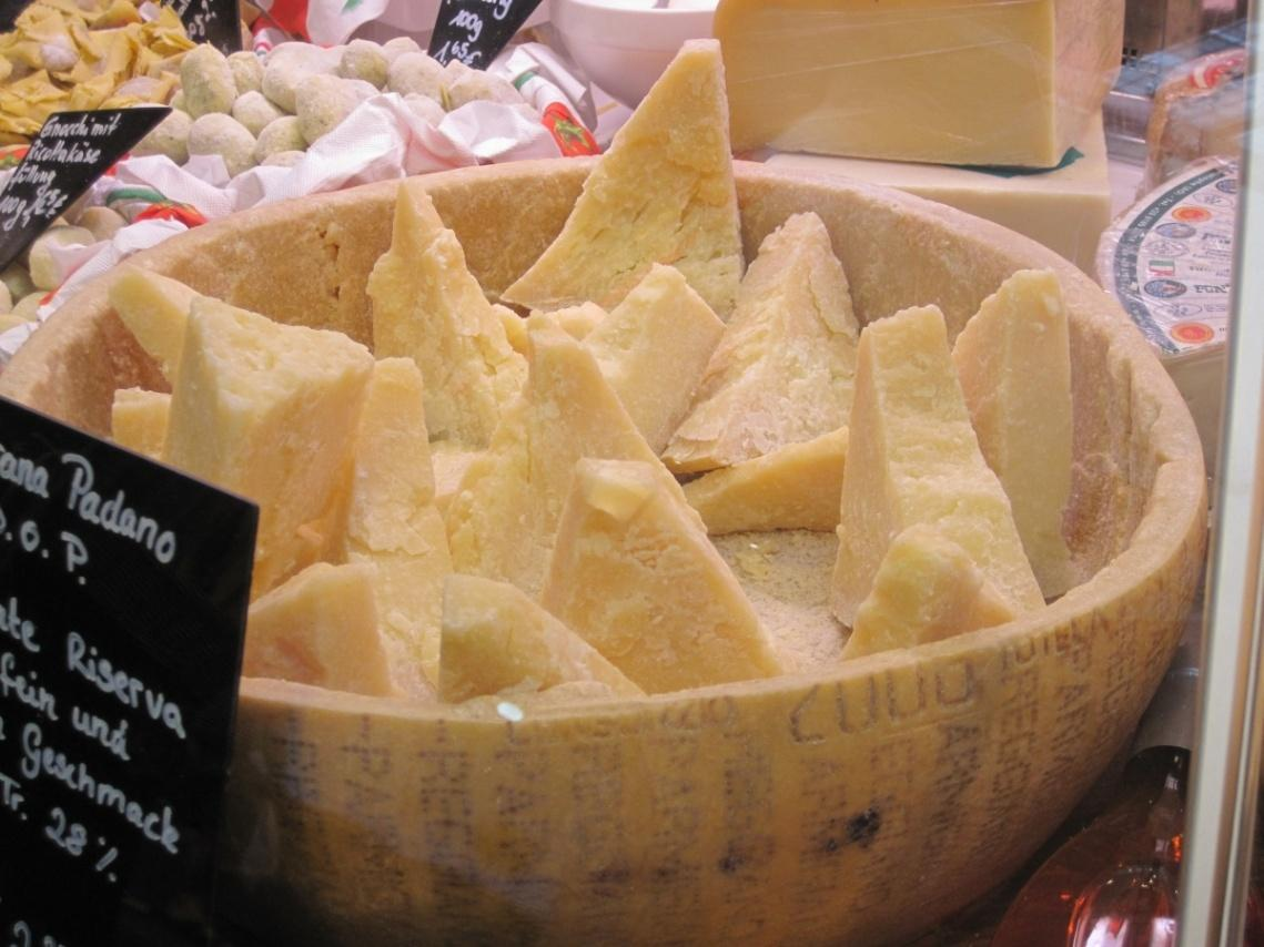 Production of Parmigiano