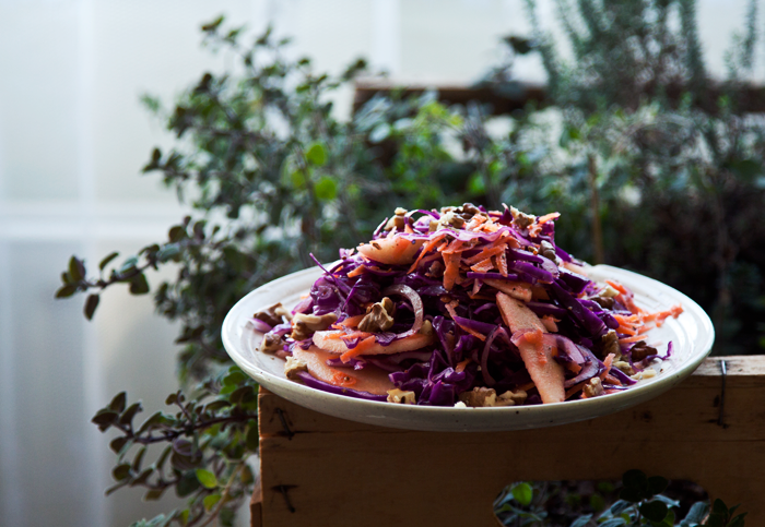 Swiss salad Sweet and sour red cabbage
