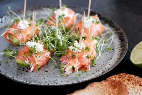 Swiss hors d'oeuvre with Salmon | Restaurant Fondue