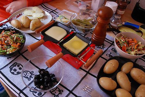 Swiss dish Raclette cheese
