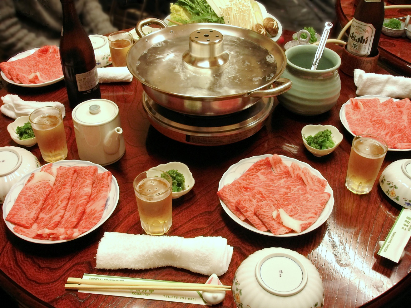 FONDUE WITH MEAT
