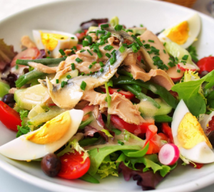 French salads, part of Swiss cuisine